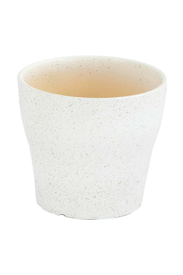 כלי קרמיקה לבן נקודות